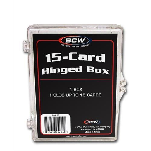 Hinged Trading Card Box - 15 Count