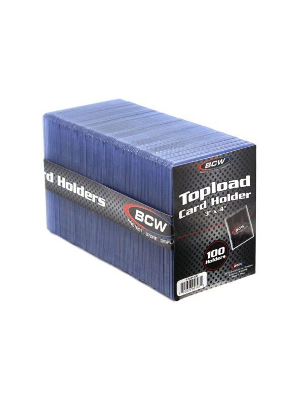 3x4 Topload Card Holder  Standard (100 CT. Pack)