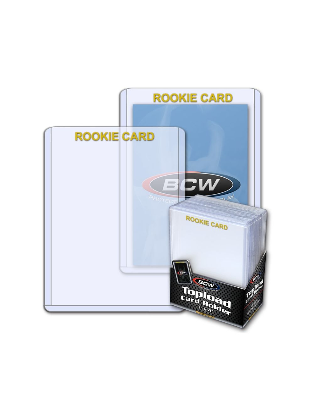 3x4 Topload Card Holder  Rookie Imprinted  Gold