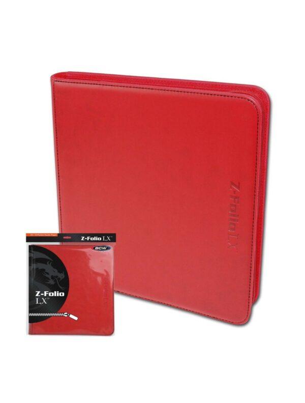 (product) Z Folio 12 Pocket LX Album  Red