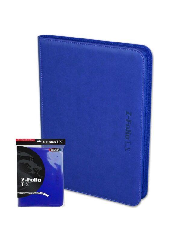 (product) Z Folio 9 Pocket LX Album  Blue