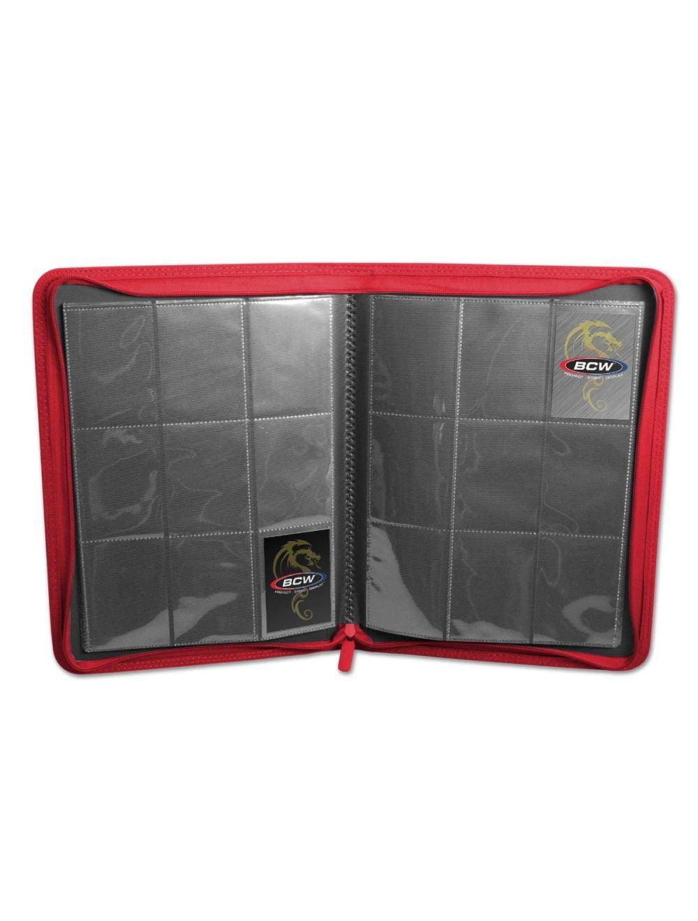 (product) Z Folio 9 Pocket LX Album  Red