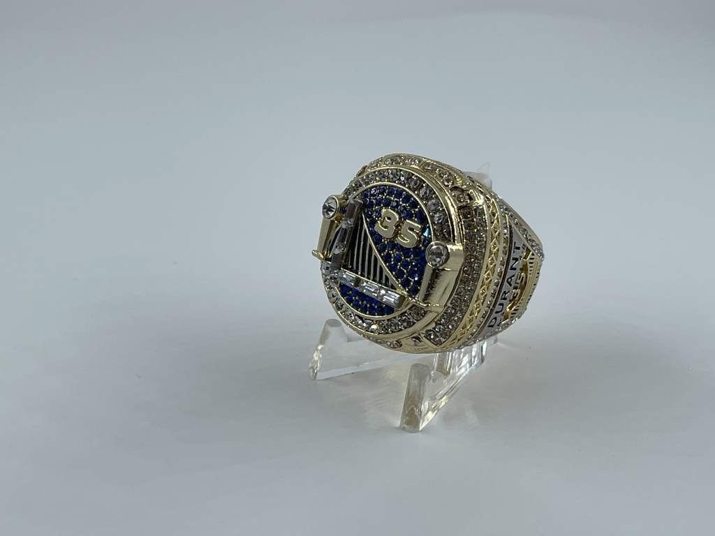 Replica NBA Championship Ring - 2018 Golden State Warriors - Kevin Durant