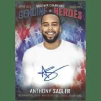 2019 Upper Deck Goodwin Champions Genuine Heroes Sadler