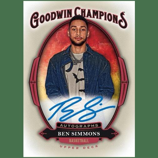 2020 Upper Deck Goodwin Champions Trading Cards Goodwin Autographs Ben Simmons