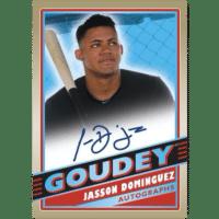 2020 Upper Deck Goodwin Champions Trading Cards Goudey Autographs Jasson Dominguez