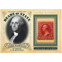 2020 Upper Deck Goodwin Champions Trading Cards Heads of State Vintage Stamps Relic George Washington