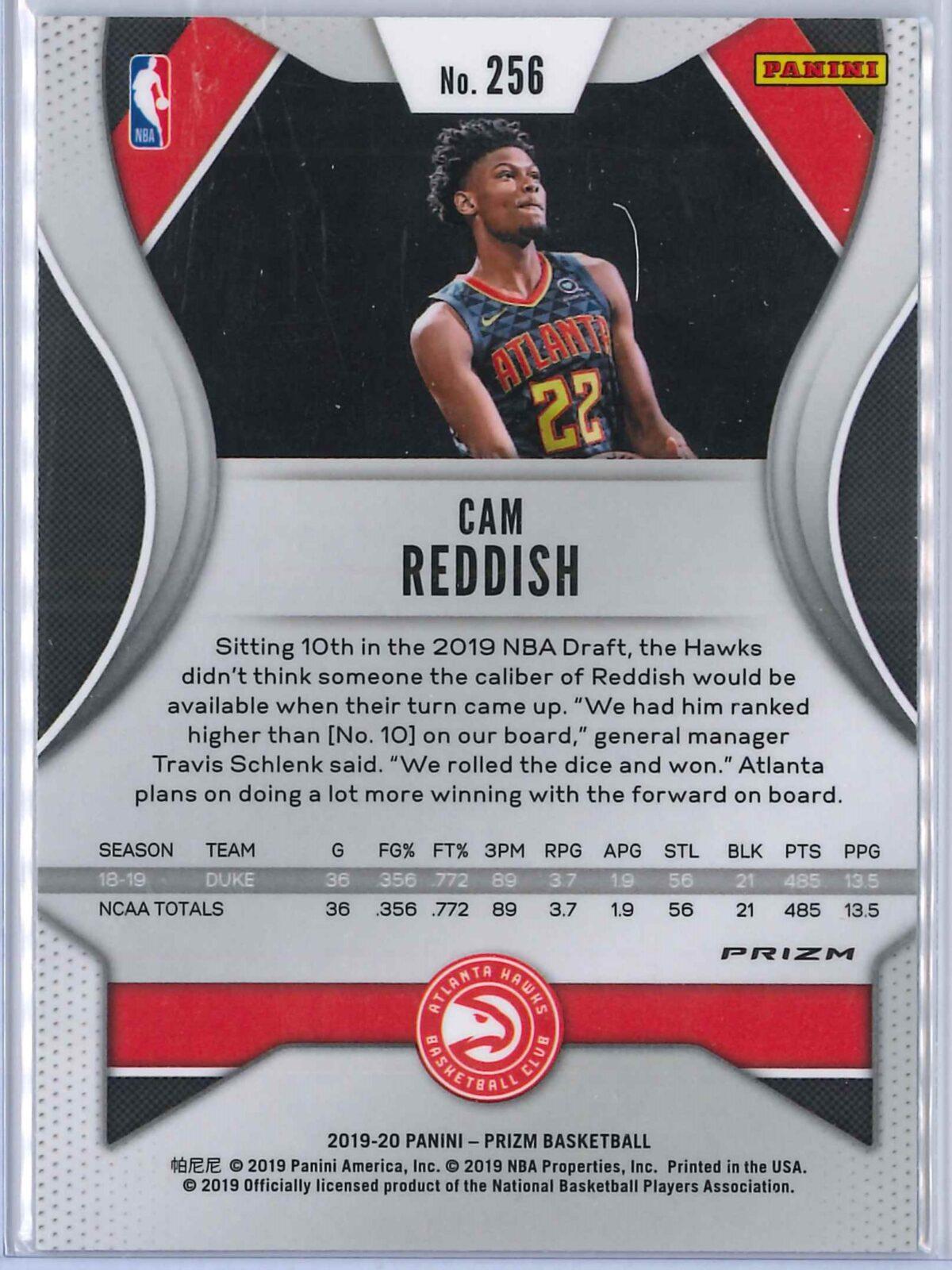 Cam Reddish Panini Prizm 2019-20 Base RC Green