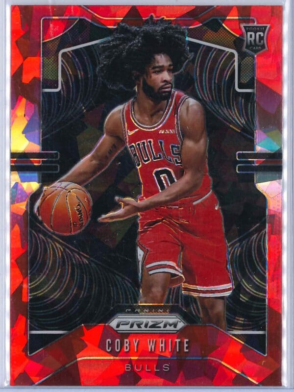 Coby White Panini Prizm 2019-20 Base RC Red Ice