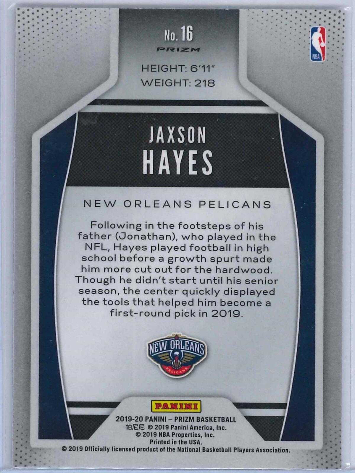 Jaxson Hayes Panini Prizm 2019-20 Instant Impact Rookie Silver