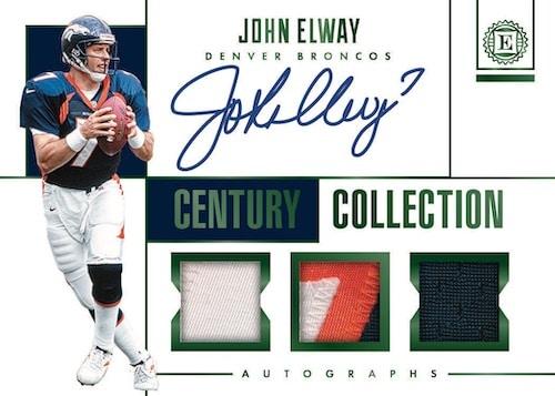 2019-Panini-Encased-Football-NFL-Cards-Century-Collection-Auto-Relic-John-Elway