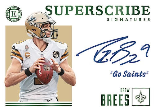 2019-Panini-Encased-Football-NFL-Cards-Subscribe-Signatures-Drew-Brees