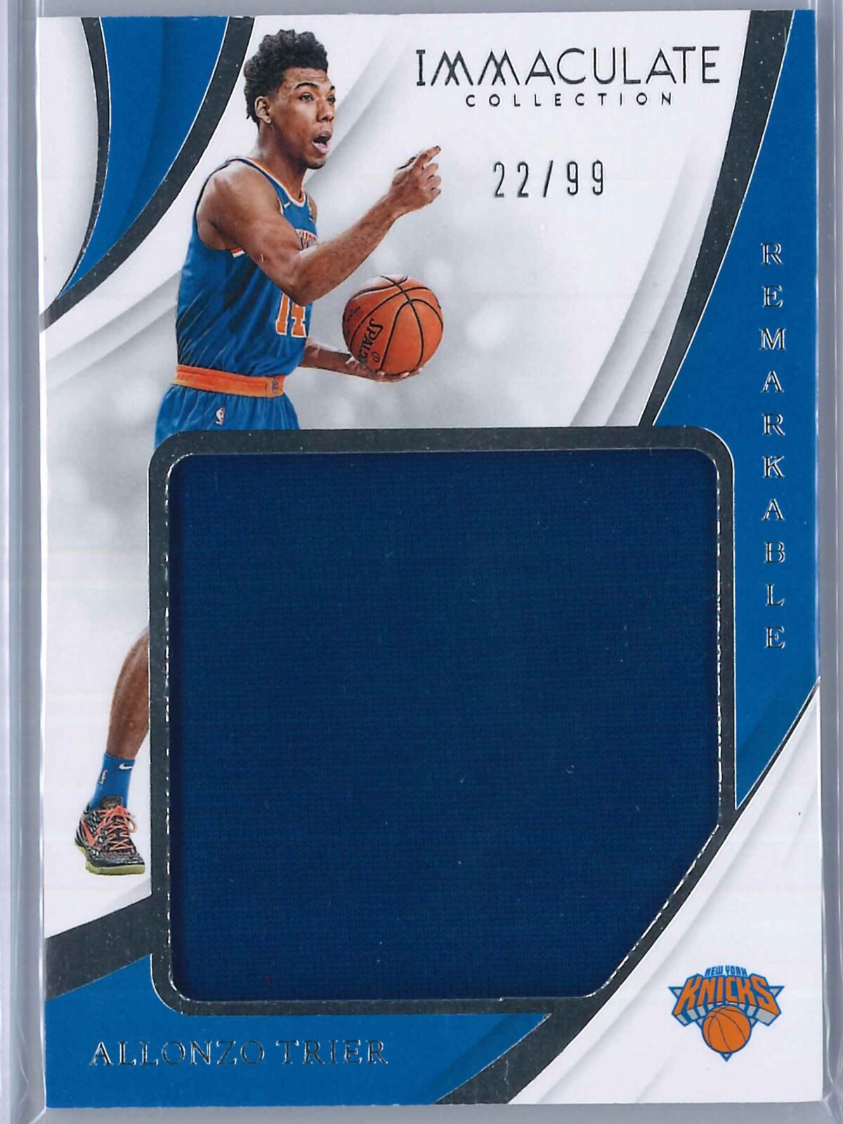 Alonzo Trier Panini Immaculate 2018-19 Remarkable 22/99 Rookie Patch