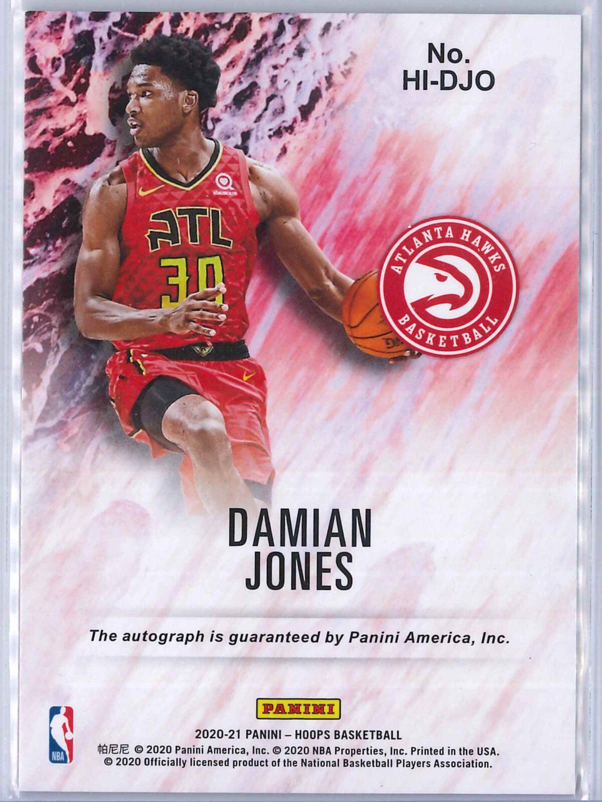 Damian Jones Panini Hoops 2020-21 Hoops Ink