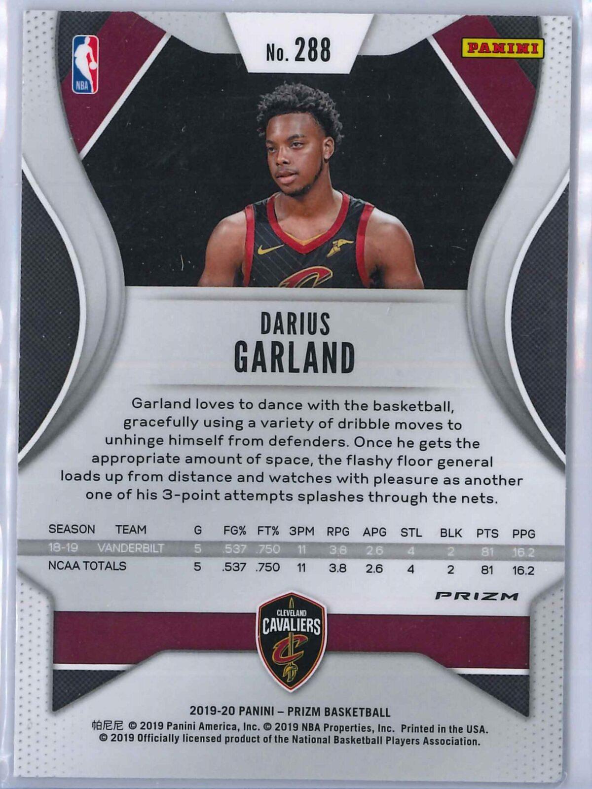 Darius Garland (1) Panini Prizm 2019-20 Base RC Red White Blue