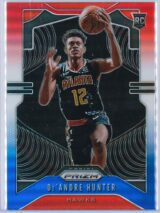 De Andre Hunter Panini Prizm 2019 20 Base RC Red White Blue 1 scaled