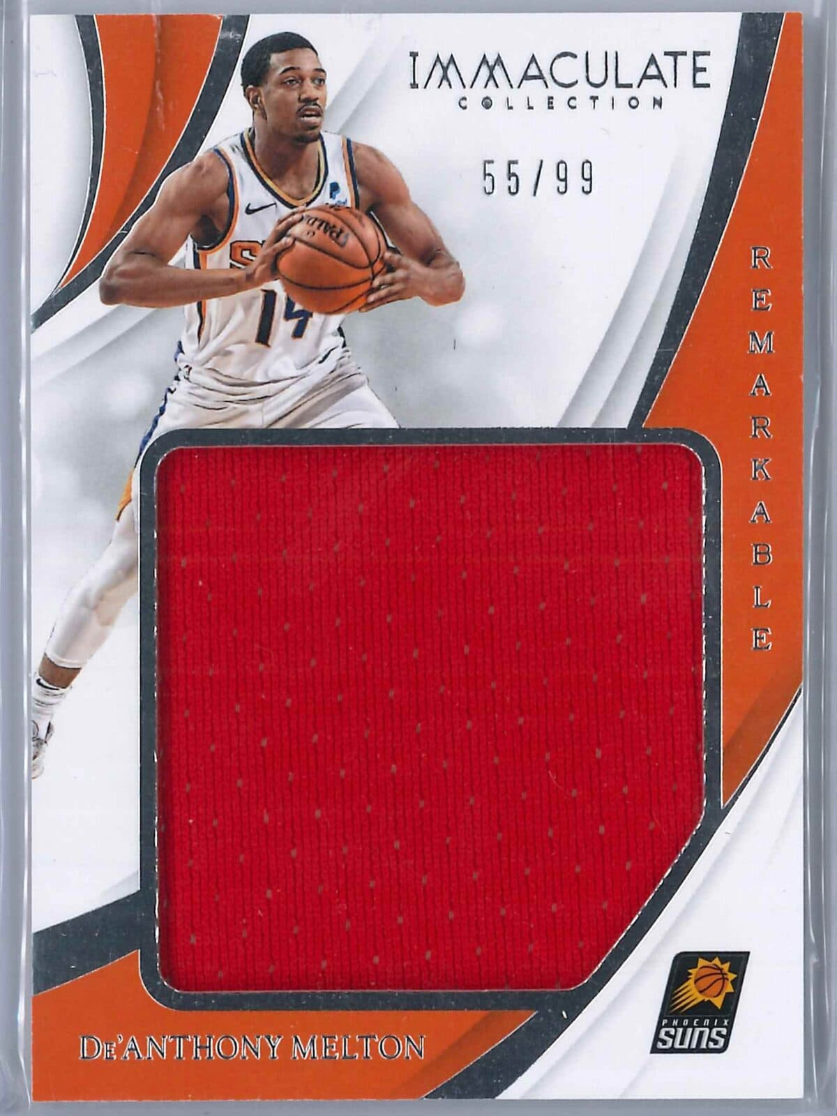 De Anthony Melton Panini Immaculate 2018-19 Remarkable 55/99 Rookie Patch