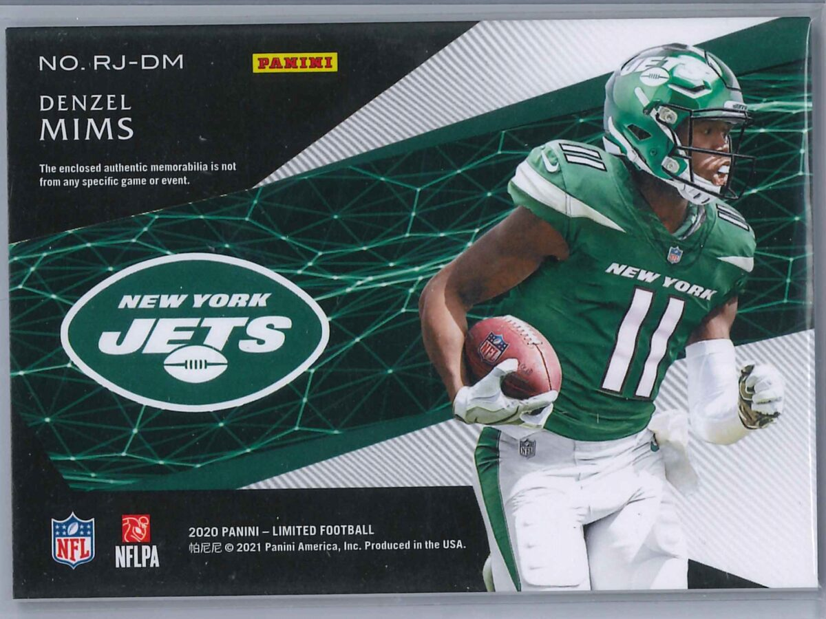 Denzel Mims Panini Limited 2020 Rookie Patch 138/199