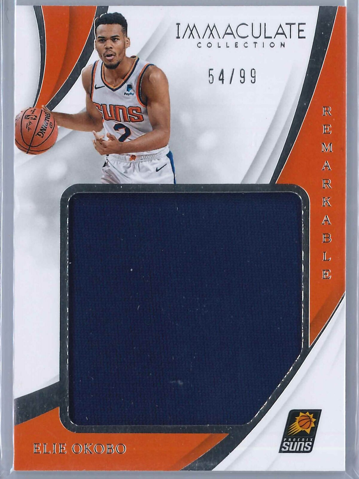 Ellie Okobo Panini Immaculate 2018-19 Remarkable 54/99 Rookie Patch