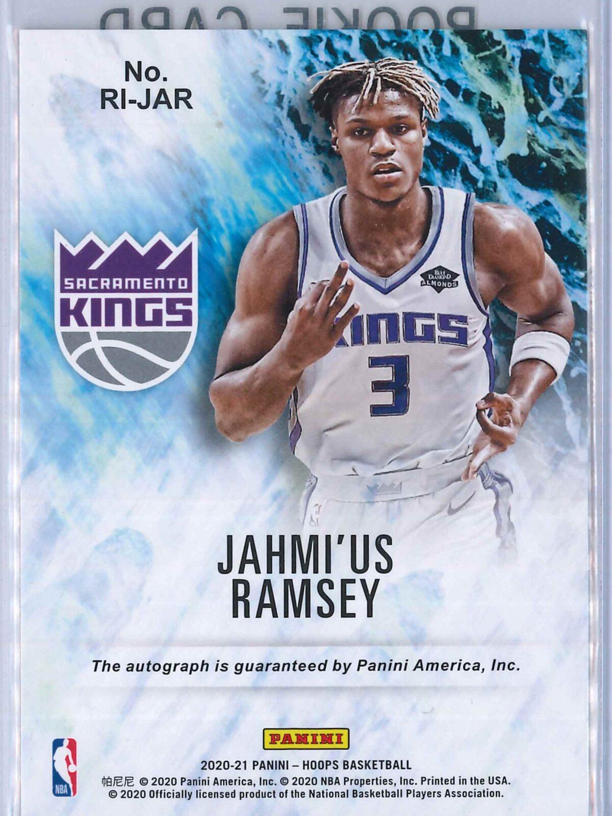 Jahmius Ramsey Panini Hoops 2020-21 Rookie Ink RC Auto