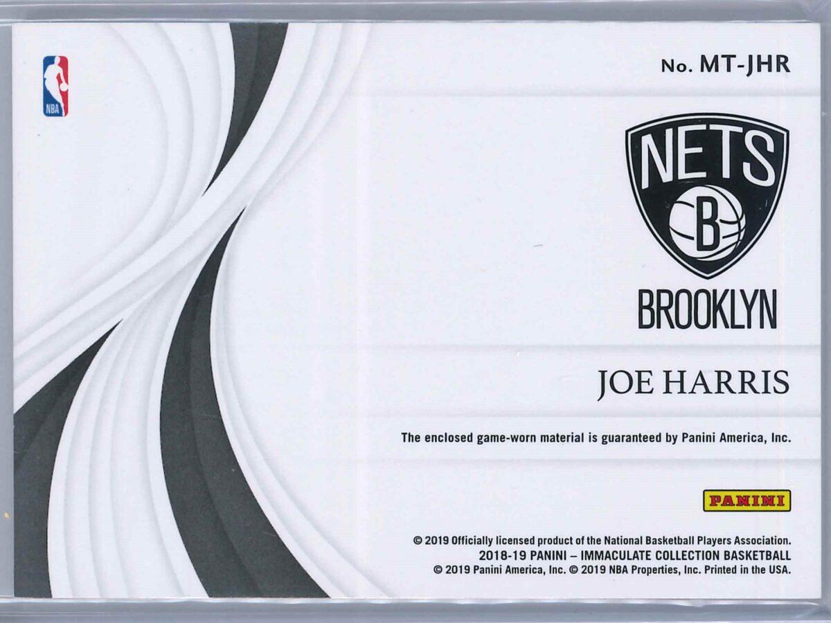 Joe Harris Panini Immaculate 2018-19 Swatches 06/99