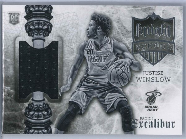 Justice Winslow Panini Excalibur 2015-16 Knight School RC Patch