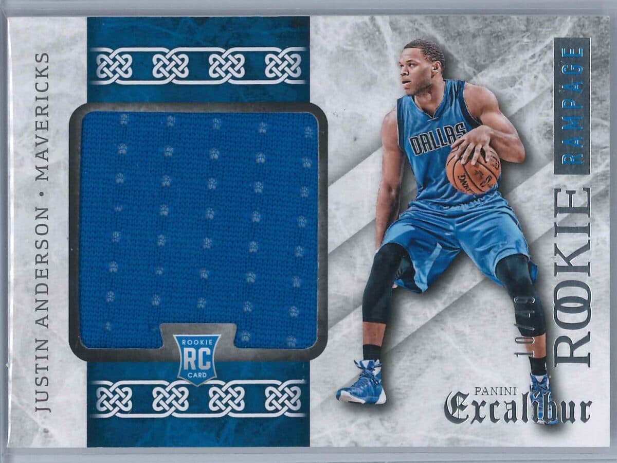 Justin Anderson Panini Excalibur 2015-16 Rookie Rampage 10/49 Rookie Patch