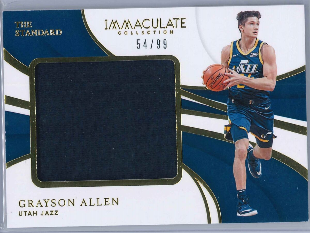 Grayson Allen Panini Immaculate 2018-19 The Standard 54/99 Rookie Patch