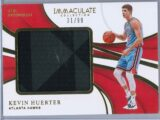 Kevin Huerter Panini Immaculate 2018 19 The Standard 3199 2 Color Rookie Patch 1 scaled