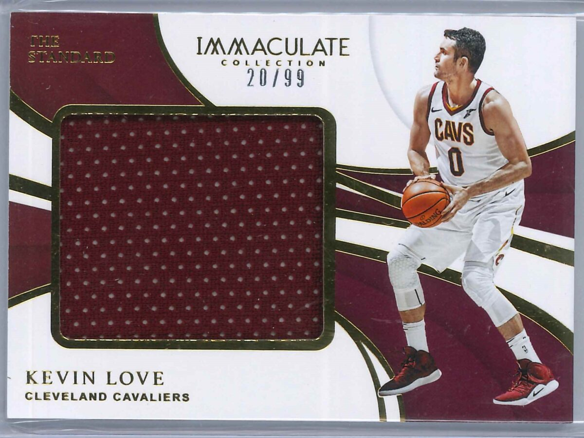Kevin Love Panini Immaculate 2018-19 The Standard 20/99