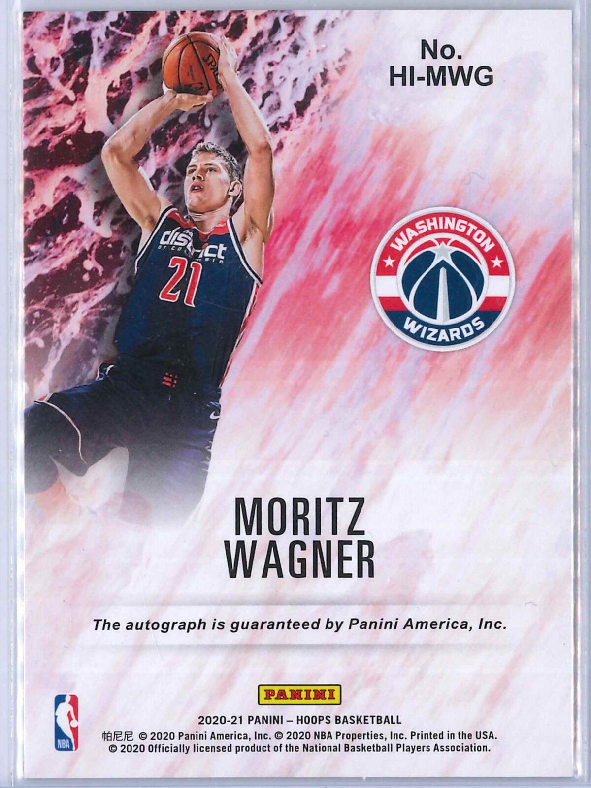 Moritz Wagner Panini Hoops 2020-21 Hoops Ink