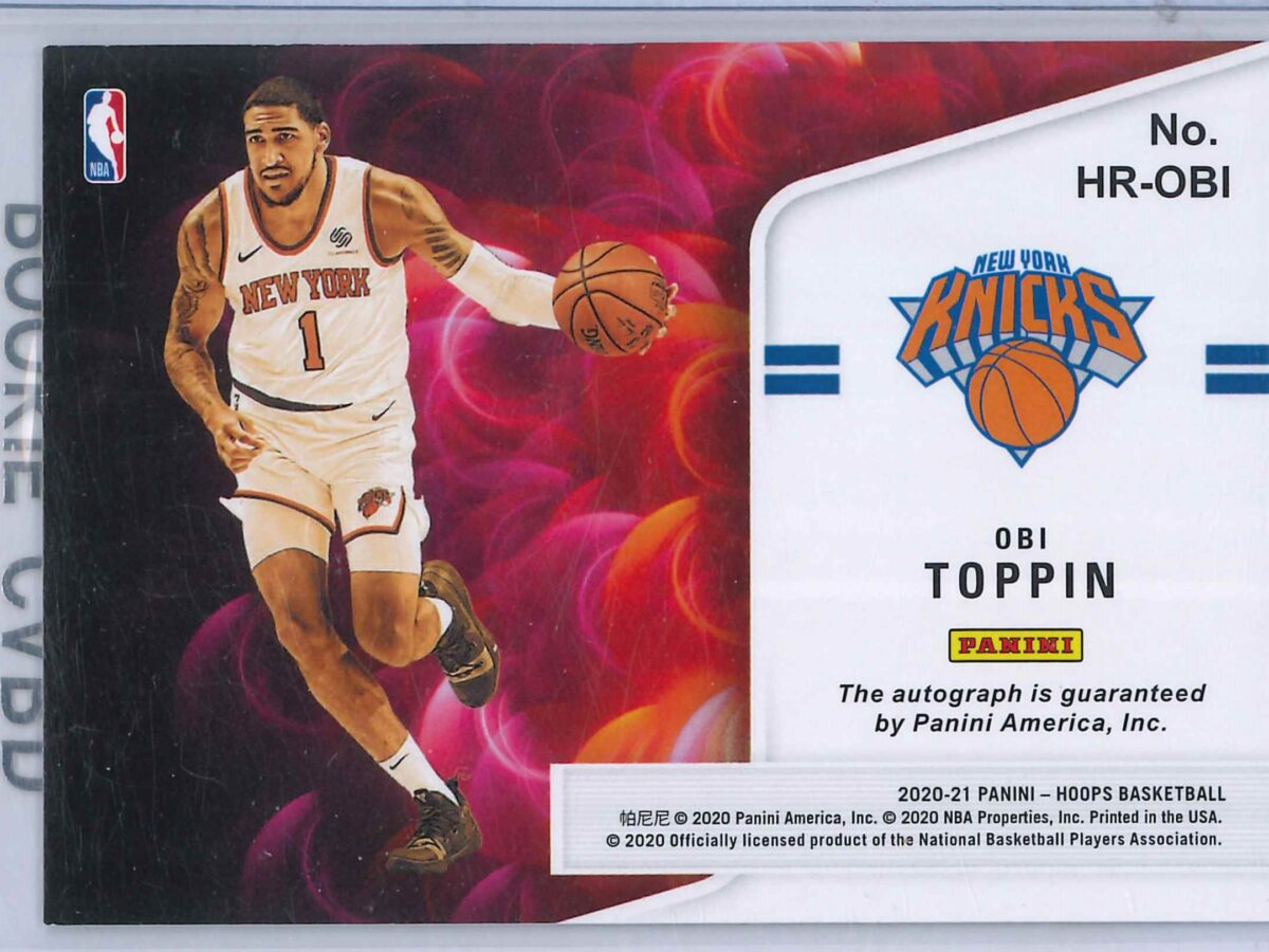 Obi Toppin Panini Hoops 2020-21 Hot Signatures Rookie RC Auto