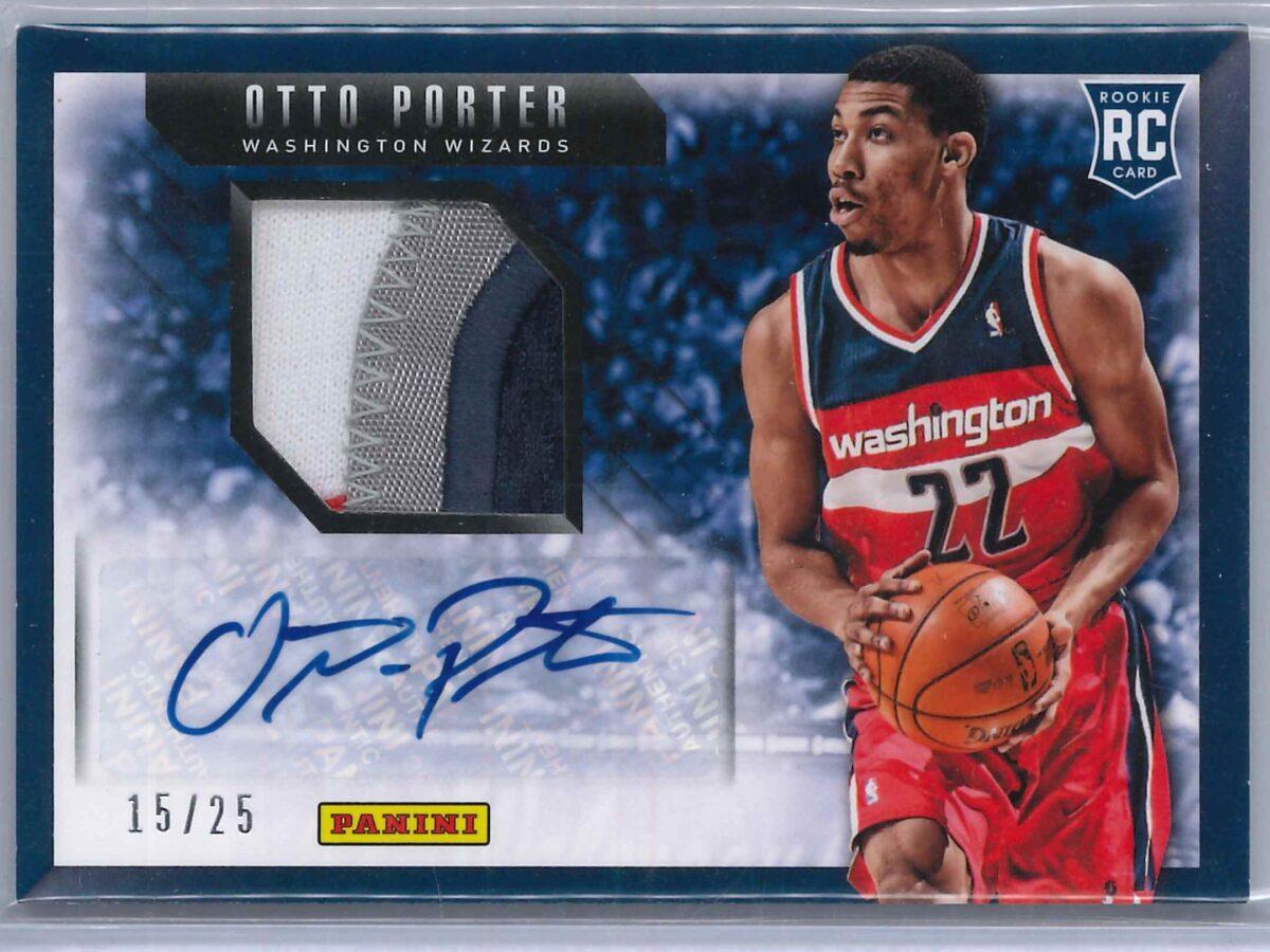 Otto Porter Jr. Panini Basketball 2013-14 RC Patch Auto