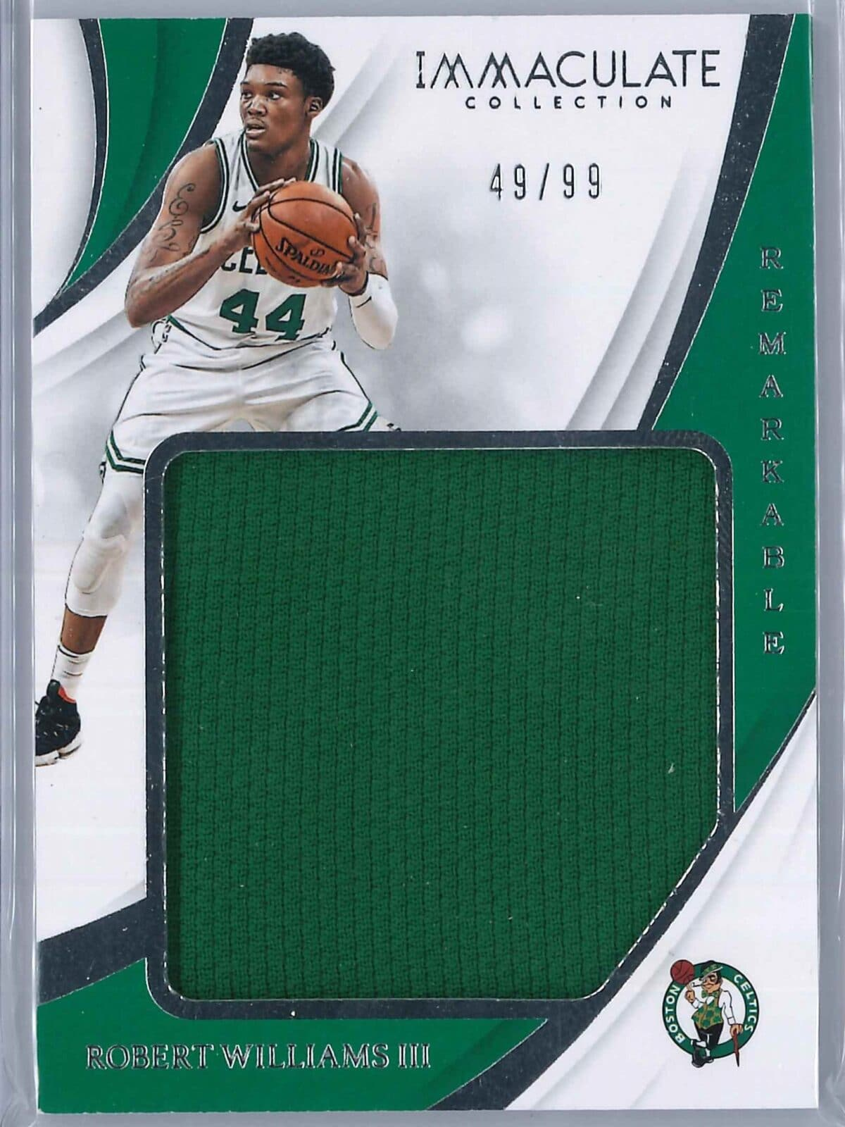 Robert Williams Panini Immaculate 2018-19 Remarkable 49/99 Rookie Patch