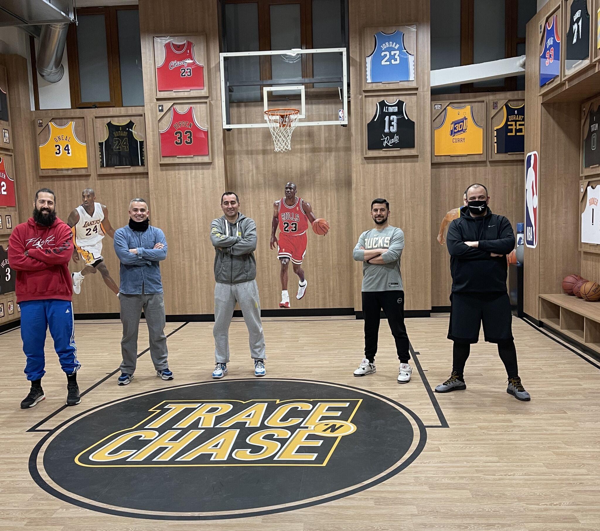 Coach Savvas Kamperidis of Aris B.C. talks basketball at Trace 'N Chase