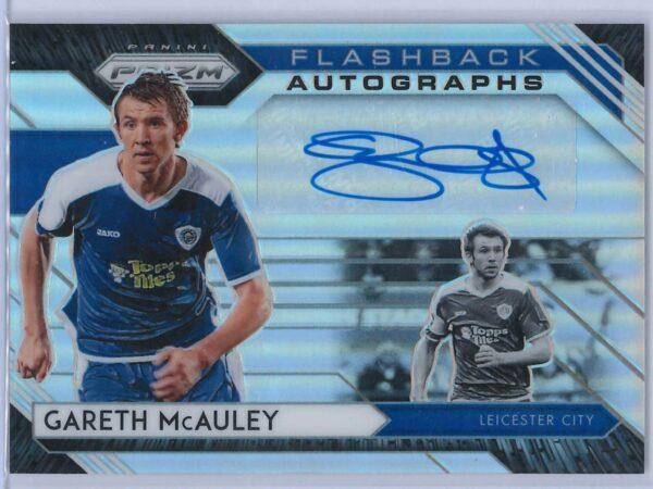 Gareth McAuley Panini Prizm 2020-21 Flashback Autographs Silver 03/25