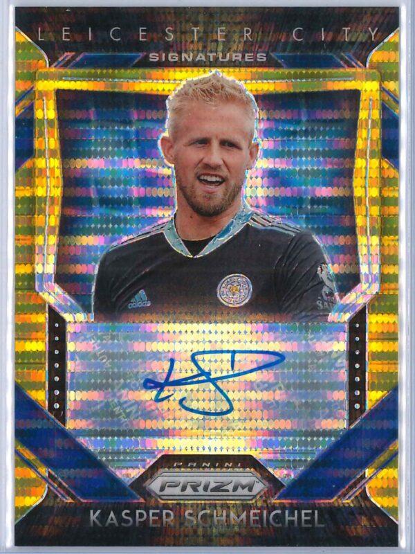 Kasper Schmeichel Panini Prizm 2020-21 Signatures Breakaway Gold 02/10