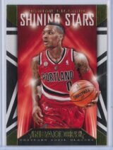 Damian Lillard Panini NBA Hoops 2014 15 Shining Stars Gold 1