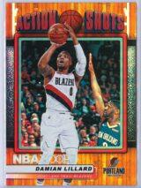 Damian Lillard Panini NBA Hoops Basketball 2018-19 Action Shots