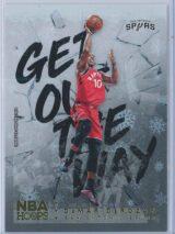 DeMar Derozan Panini NBA Hoops Basketball 2018-19 Get Out The Way Gold  Winter Edition