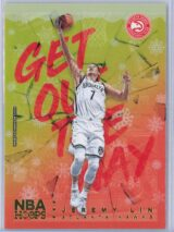Jeremy Lin Panini NBA Hoops Basketball 2018-19 Get Out The Way Gold  Winter Edition