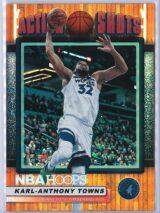 Karl Anthony Towns Panini NBA Hoops Basketball 2018-19 Action Shots