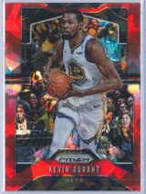 Kevin Durant Panini Prizm 2019-20  Red Cracked Ice