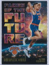 Kevin Knox Panini NBA Hoops Basketball 2018-19 Faces Of The Future Gold