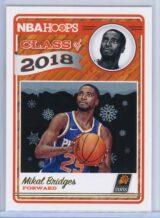 Mikal Bridges Panini NBA Hoops Basketball 2018-19 Class of 2018 Gold  Winter Edition