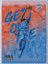 Paul George Panini NBA Hoops Basketball 2018-19 Get Out The Way Gold  Winter Edition