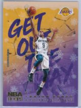 Rajon Rondo Panini NBA Hoops Basketball 2018-19 Get Out The Way Gold  Winter Edition