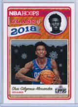 Shai Gilgeous Alexander Panini NBA Hoops Basketball 2018-19 Class of 2018 Gold  Winter Edition