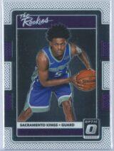De Aaron Fox Panini Donruss Optic Basketball 2017-18 The Rookies