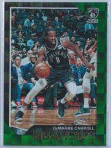 DeMarre Carroll Panini NBA Hoops 2018 19 Green 2099 1